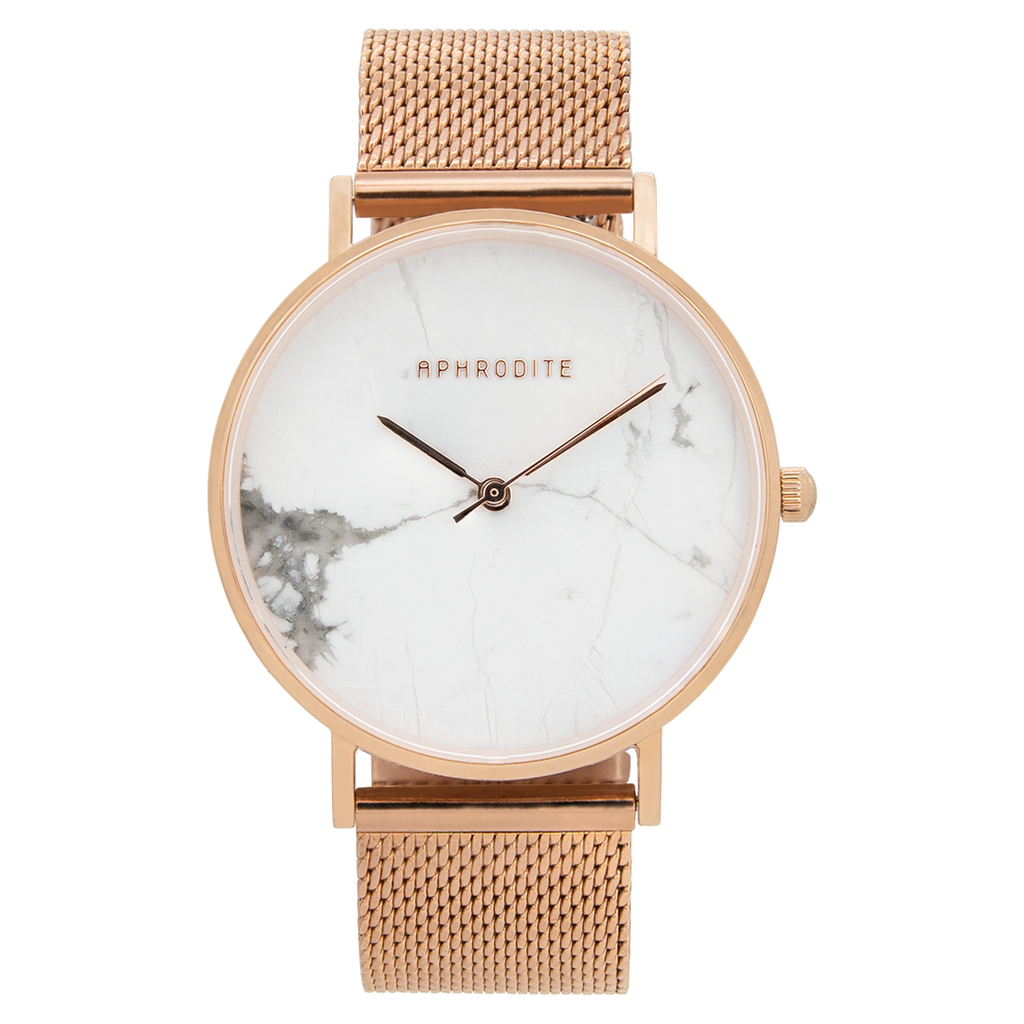 """Be Unique"" - Roségold Mesh Uhr"