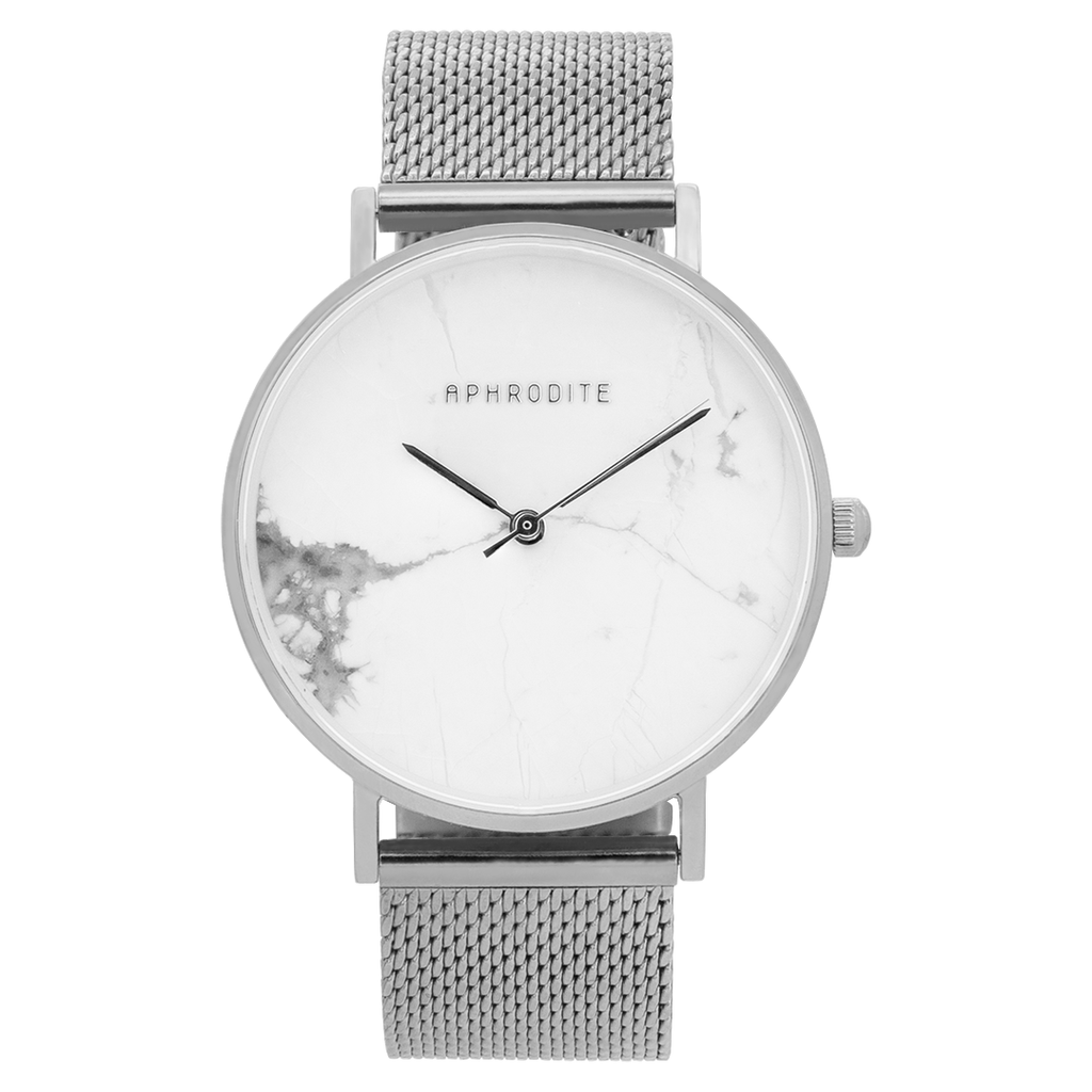 """Be Unique"" - Silver Mesh Uhr"