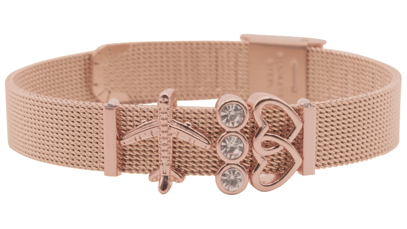 """Travel Lover"" Mesh Armband - Sommersale"