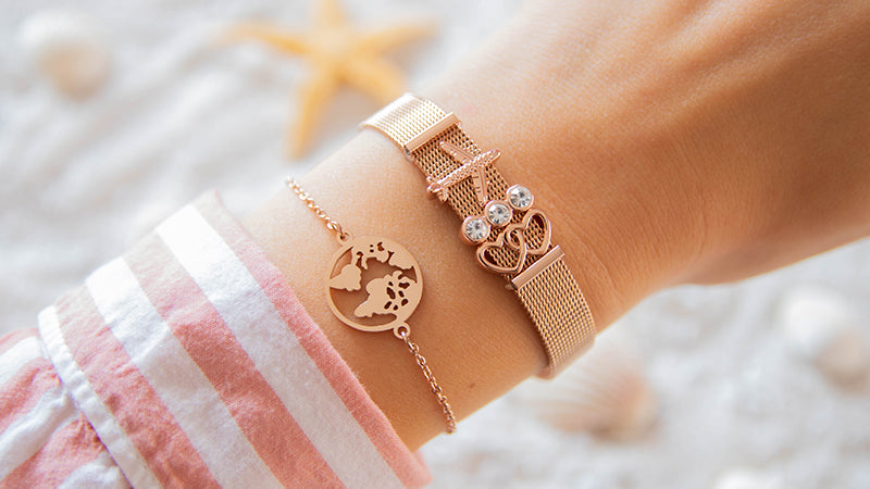 """Travel Lover"" Set - Rosegold"