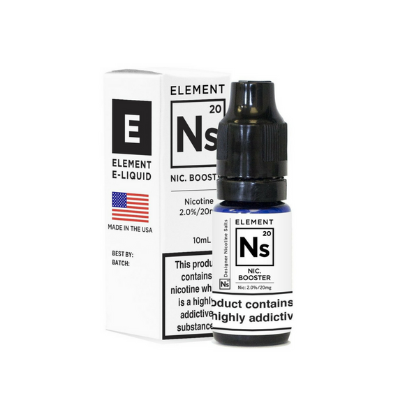 Ns20 20mg Nic Salt (Booster Shot) by Element 10ml - alba-vaping-uk