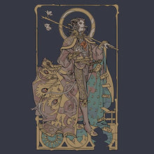 "Load image into Gallery viewer, Mollymauk ""Long May He Reign"" T-shirt"