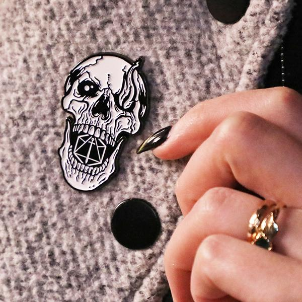 Critical Role Pin No. 1 - The Whispered One Skull Pin