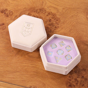 Whitestone Opalite Dice Set