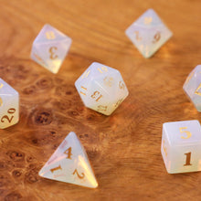 Load image into Gallery viewer, Whitestone Opalite Dice Set