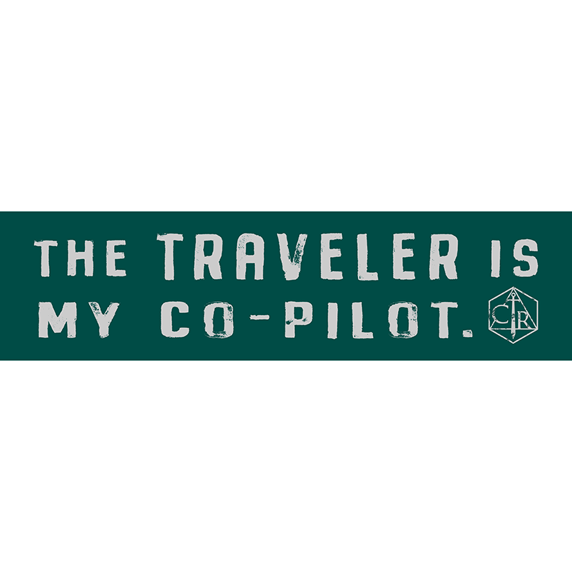The Traveler Is My Co-Pilot Bumper Sticker