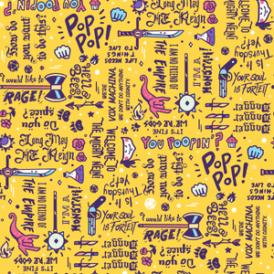 Critical Role Wrapping Paper 4 Pack: Purple & Yellow