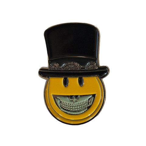Smiley Top Hat Pin
