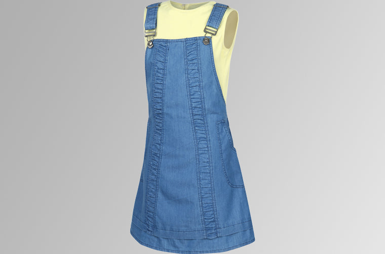 Dress with Adjustable Straps, Wrap Around Pockets