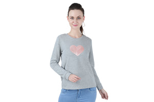 SPW11 Love sequin sweatshirt