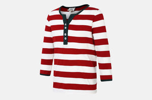 Striped Tee Soft Cotton Pique Knit
