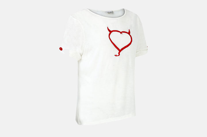 Devil heartee with Roll up Cuffs
