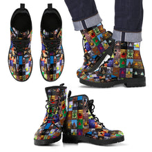 Load image into Gallery viewer, Amazing Rock Band Leather Boots