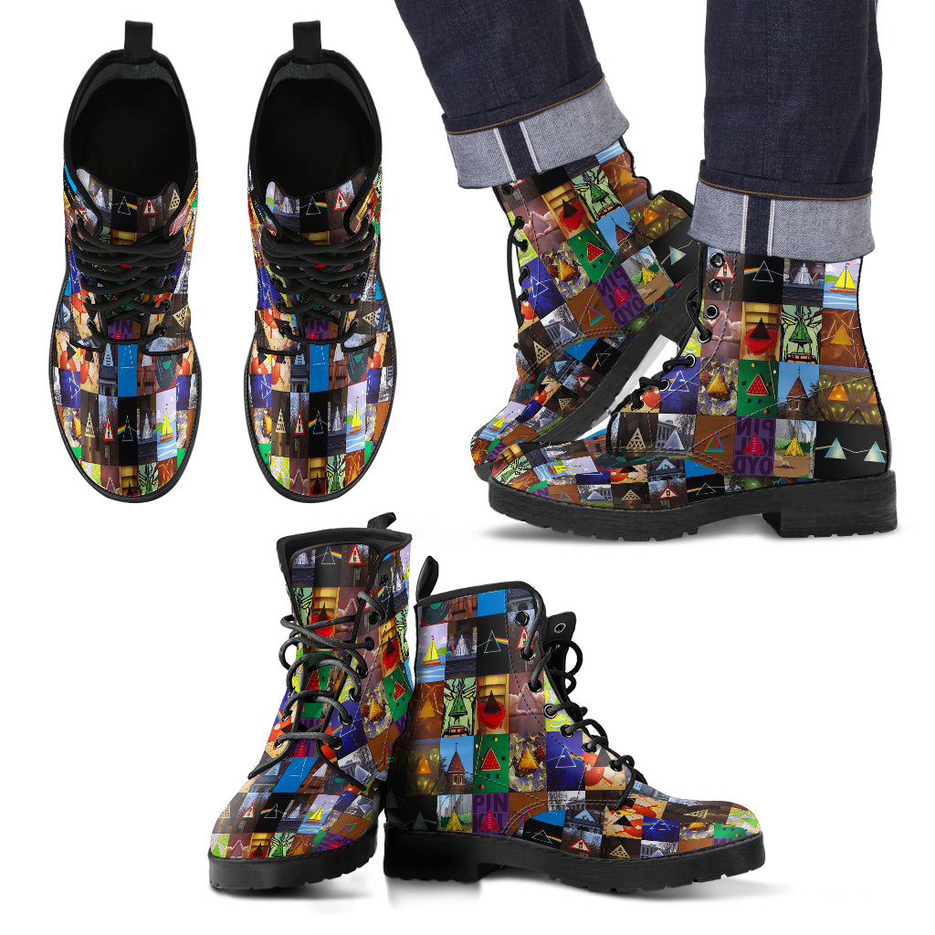 Amazing Rock Band Leather Boots