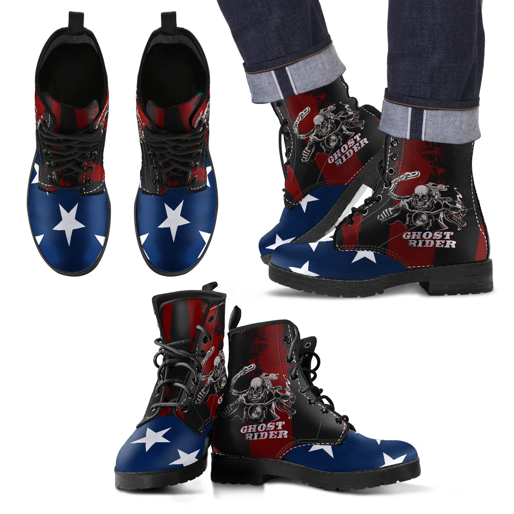 Ghost Rider Men's Leather Boots