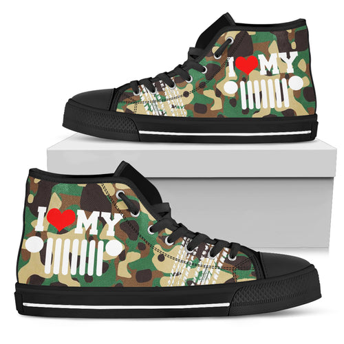 Camo Jeep High Top Shoes