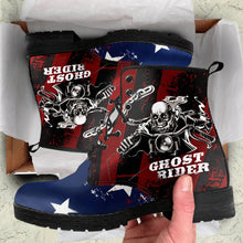 Load image into Gallery viewer, Ghost Rider Men's Leather Boots