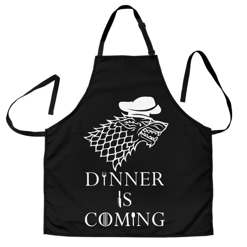 Dinner Is Coming Men's Apron
