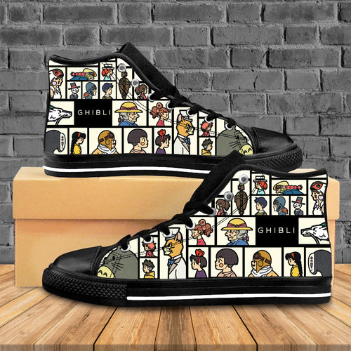 Amazing Anime Characters High Top Shoes