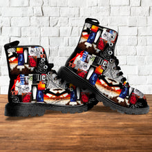Load image into Gallery viewer, Album Collage Leather Boots