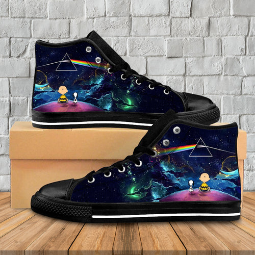 Amazing Dark Side Moon High Top Shoes