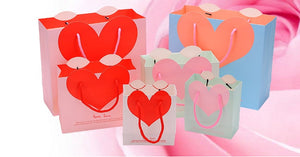 Valentine pink red Paper Gift Bags