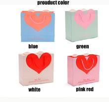 Load image into Gallery viewer, Valentine pink red Paper Gift Bags