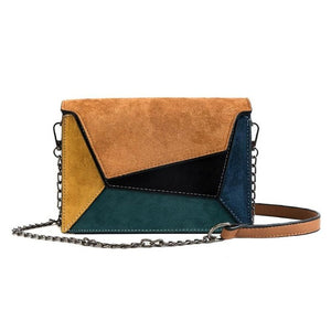 Color Velvet Leather Bag