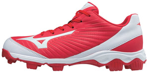Mizuno 9-SPIKE ADVANCED YOUTH FRANCHISE 9 LOW MOLDED BASEBALL CLEAT (Red)
