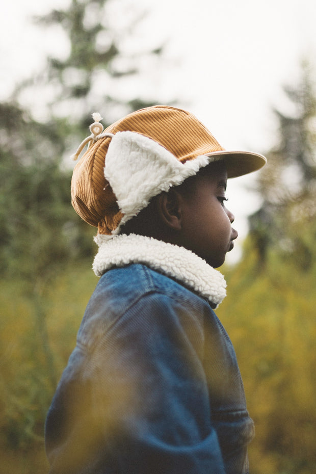 New kids in the hood 5-panel winter cap, Robin maple