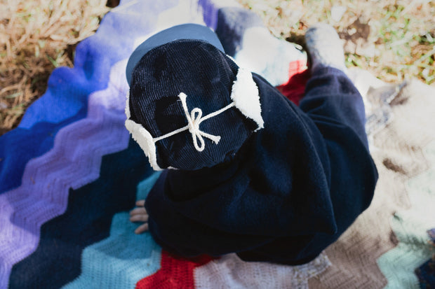 New kids in the hood 5-panel winter cap, Robin navy