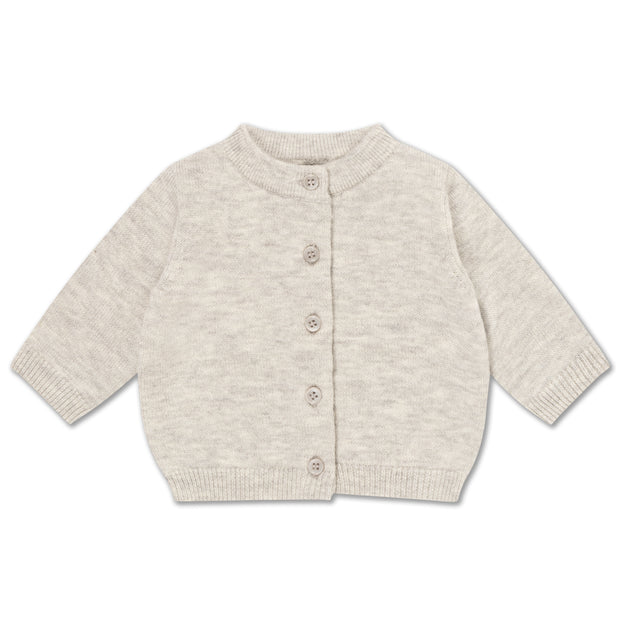 Knit cardigan light mixed grey
