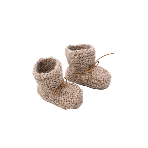 Petit Kolibri baby slippers brown