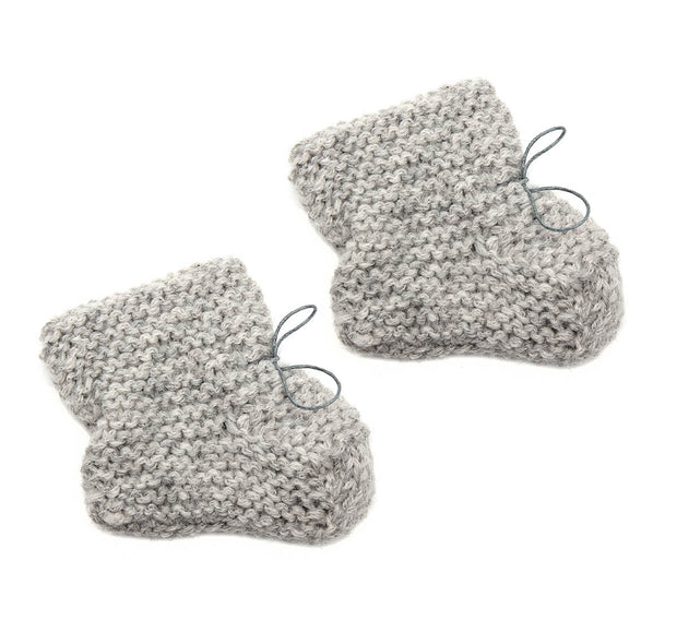 Petit Kolibri baby slippers grey
