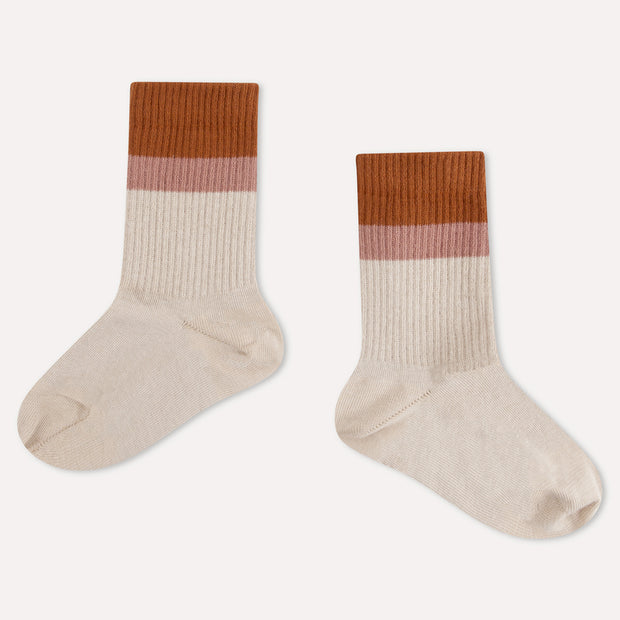 sporty sock  sand stripe