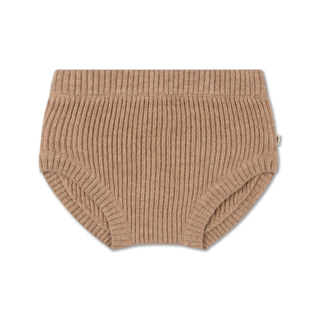 knit bloomer in camel