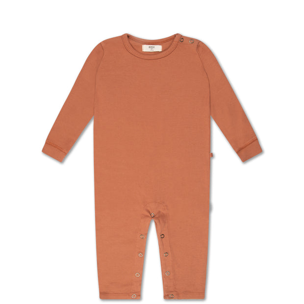 babysuit in warm caramel