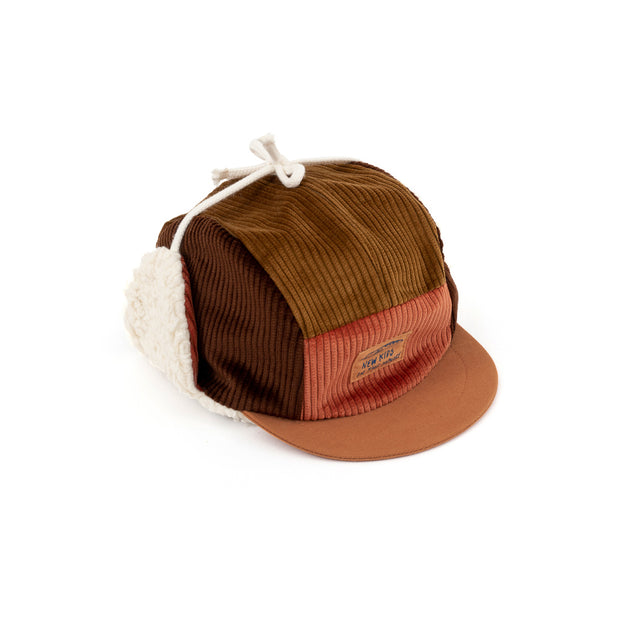 New kids in the house 5-panel winter cap, Robin harvest