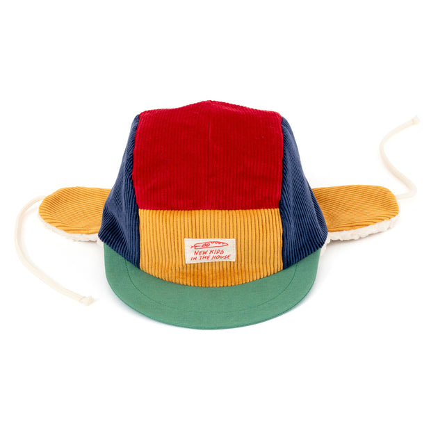 New kids in the house 5-panel winter cap, Robin multicolor
