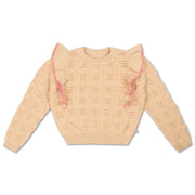 Knit sweater vintage white - Size 16