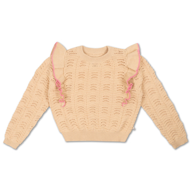 Knit sweater vintage white