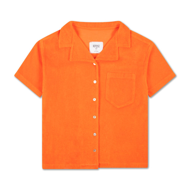 Boxy shirt washed fiery red