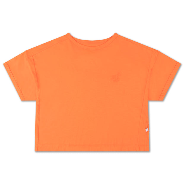 Boxy tee orange red