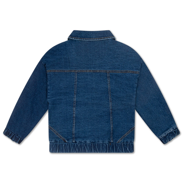 Collar bomber denim blue