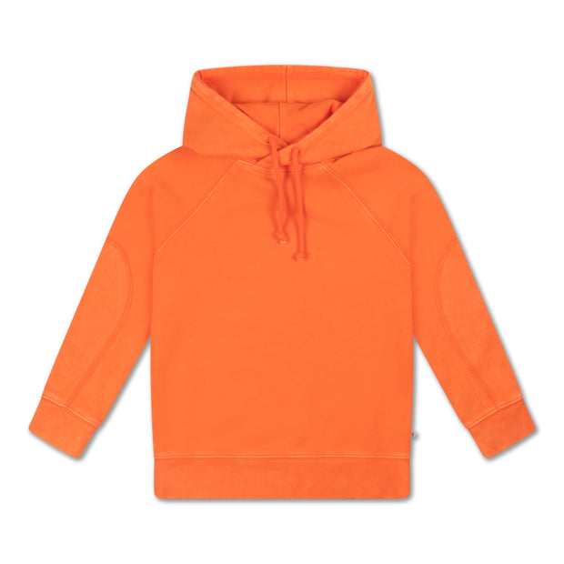 Hoodie washed fiery red