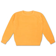 Knit sweater orange yellow