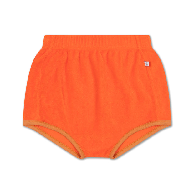 Mini short orange red