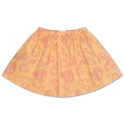 Mini skirt woven pinkish sandy curl