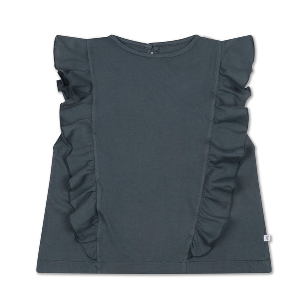 Ruffle top midnight grey