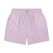 Short light woven structured lilac
